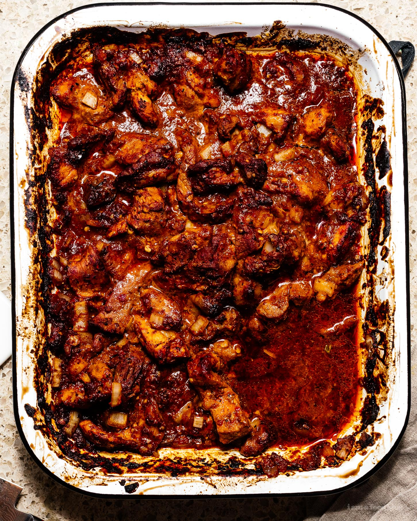 oven baked weeknight carne adovada pork taco recipe | www.iamafoodblog.com