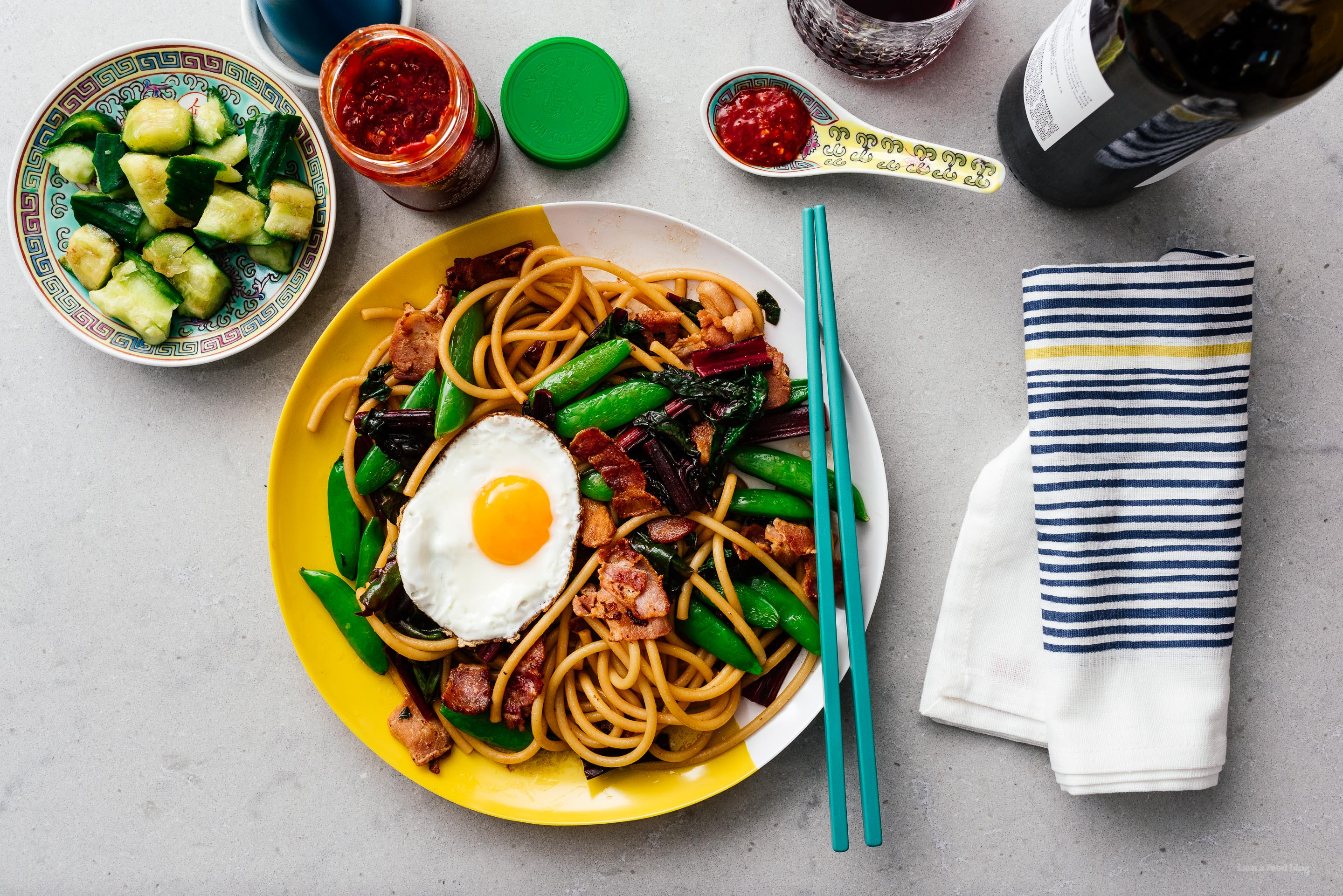 Easy Weeknight Bacon and Egg Stir Fry Lo Mein