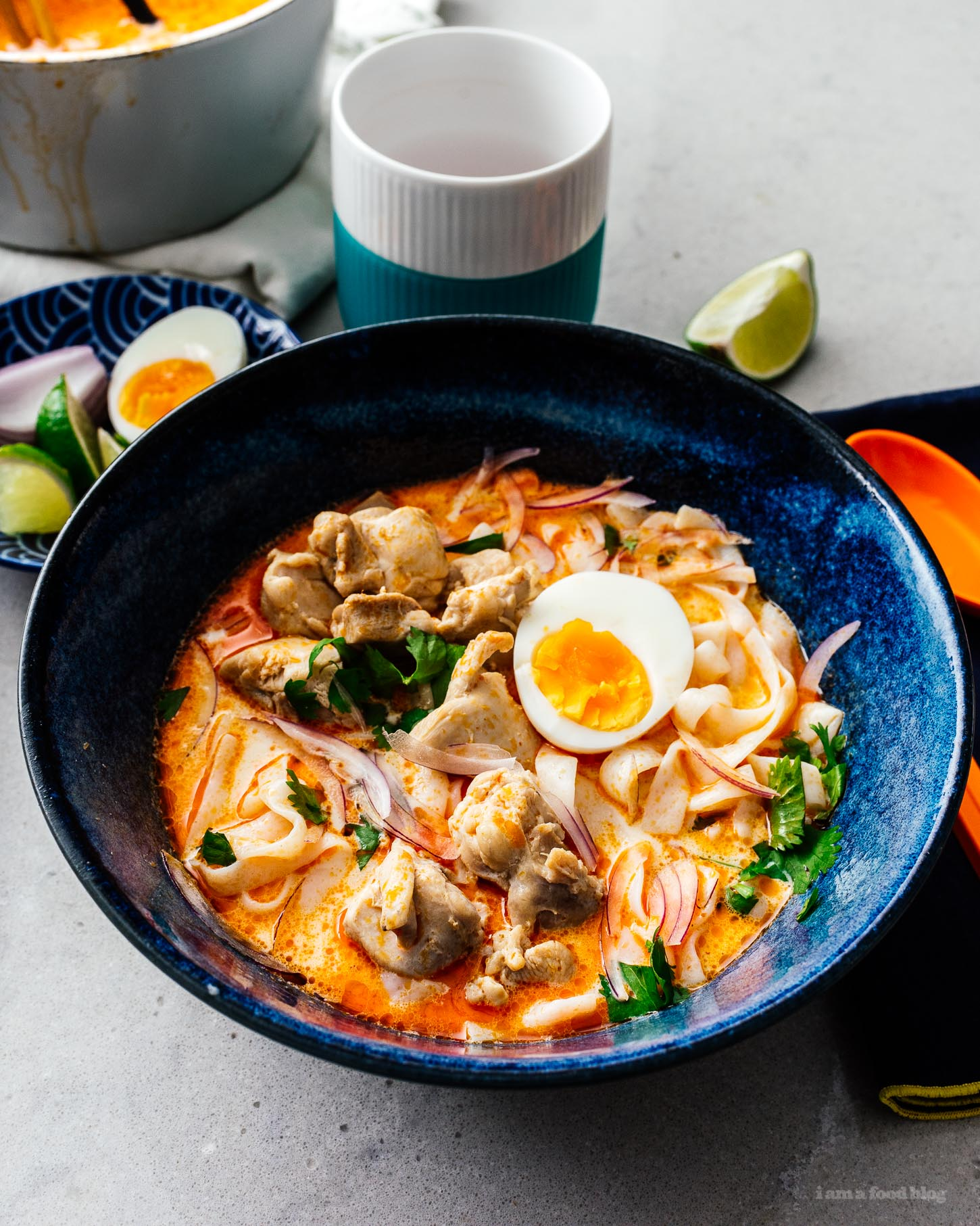 low carb keto-friendly thai red curry shirataki noodle soup #soup #thai #recipes #shirataki #curry #keto #lowcarb #keto recipes