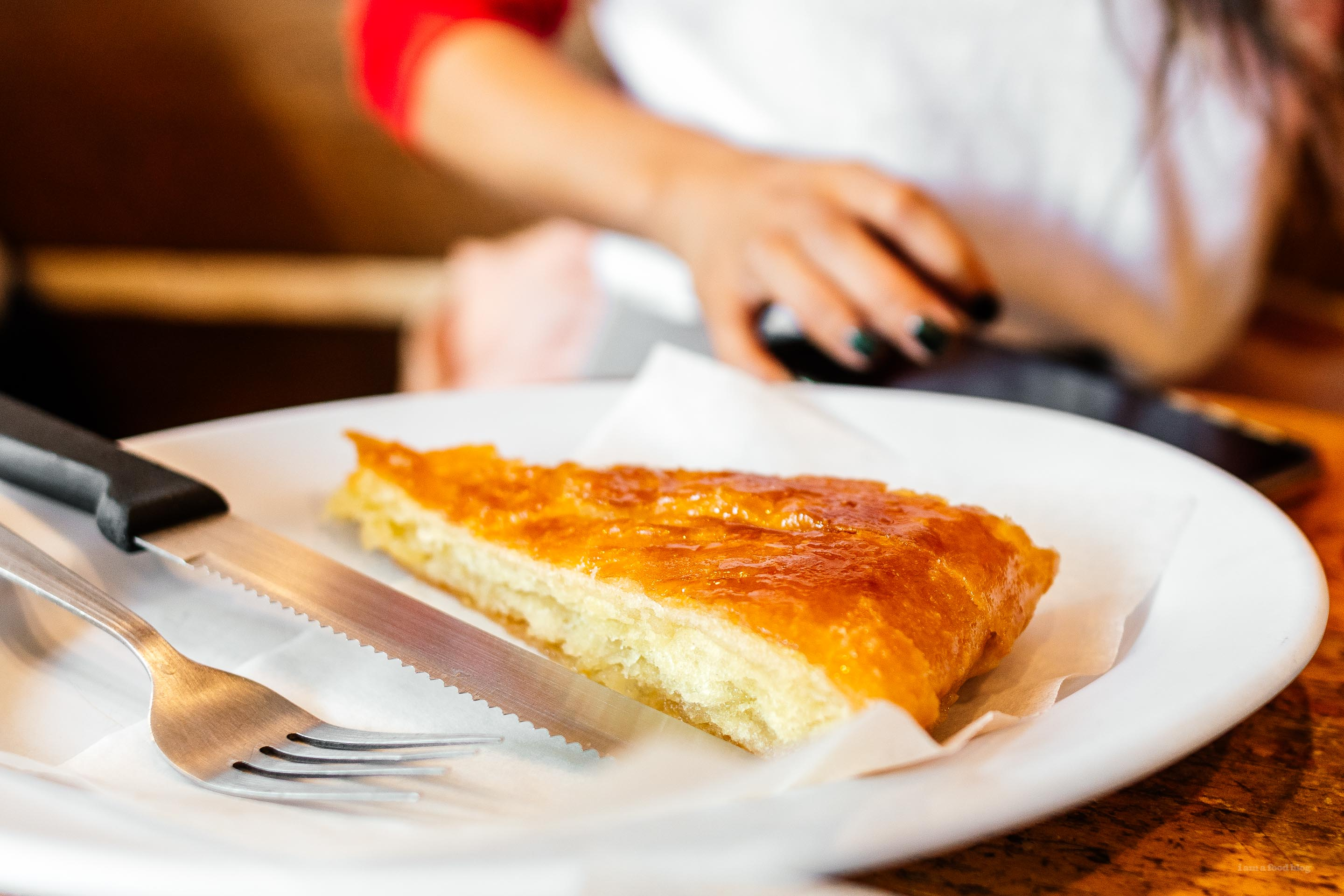 The best kougin amann i ever ate: a slice of buttery, flaky, caramel-y, bread-y, layered deliciousness. #pastry #bestever #kouignamann #montreal