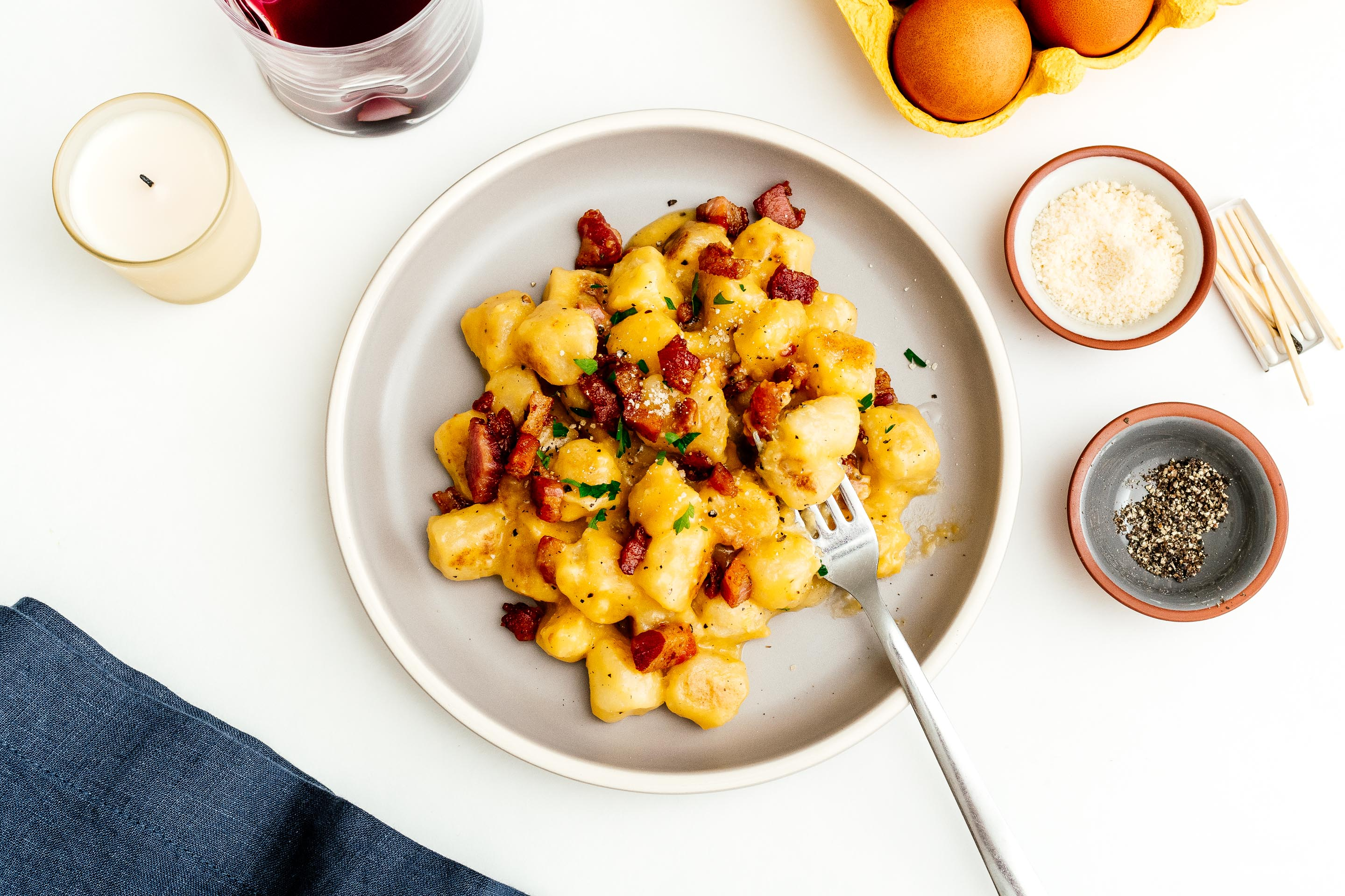 The Best Way to Cook Trader Joe?s Cauliflower Gnocchi: Gnocchi Carbonara Recipe