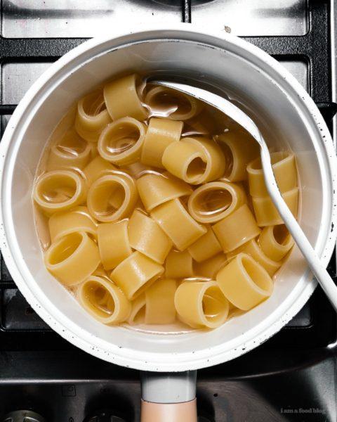 Pan-Roasted Honeynut Squash with Creamy Garlicky Pasta