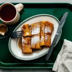 This Japanese tamagoyaki-inspired french toast is soft and custardy on the inside and crisp on the outside. The perfect combination of sweet and savory! | www.iamafoodblog.com