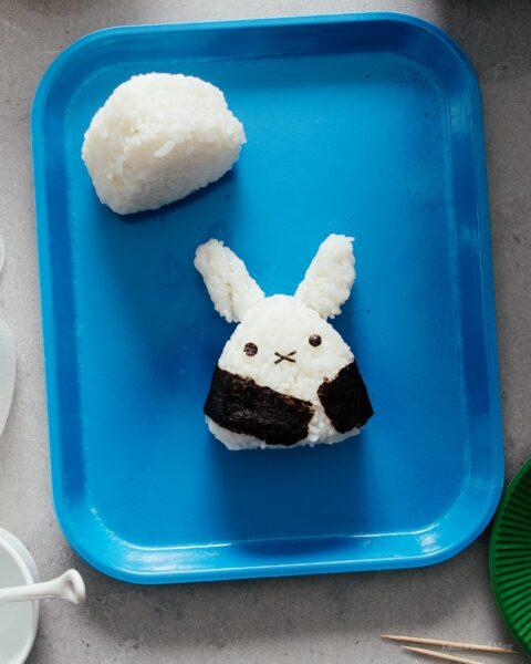 How to Make Tuna Onigiri: Miffy Tuna Onigiri | www.iamafoodblog.com