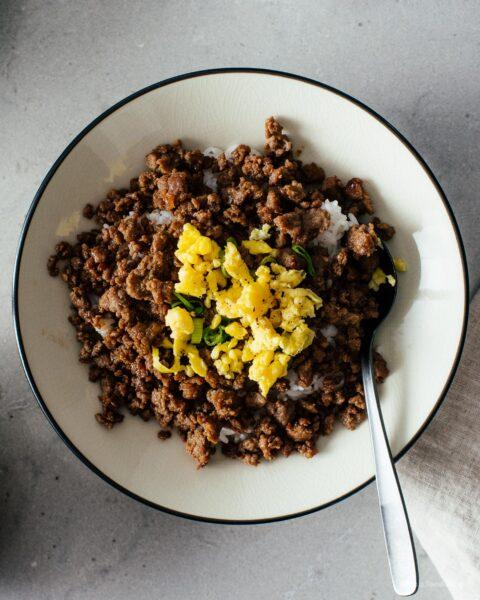 Công thức dễ dàng Soboro Donburi   www.iamafoodblog.com