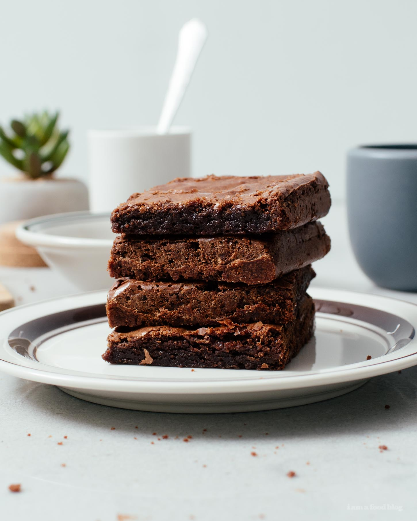 Super Chocolatey Extra Small Batch Brownies | www.iamafoodblog.com