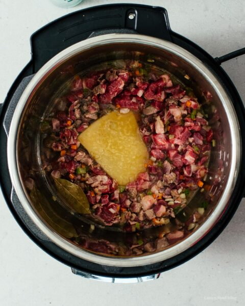 Instant Pot Lamb Ragu Recipe   www.iamafoodblog.com