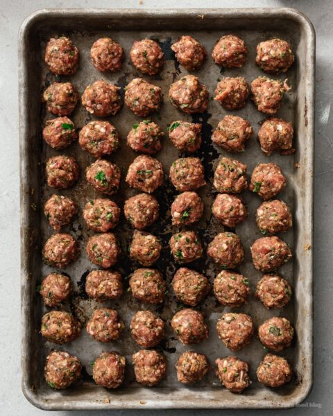 Moroccan Lamb Meatballs in Tomato Sauce | www.iamafoodblog.com