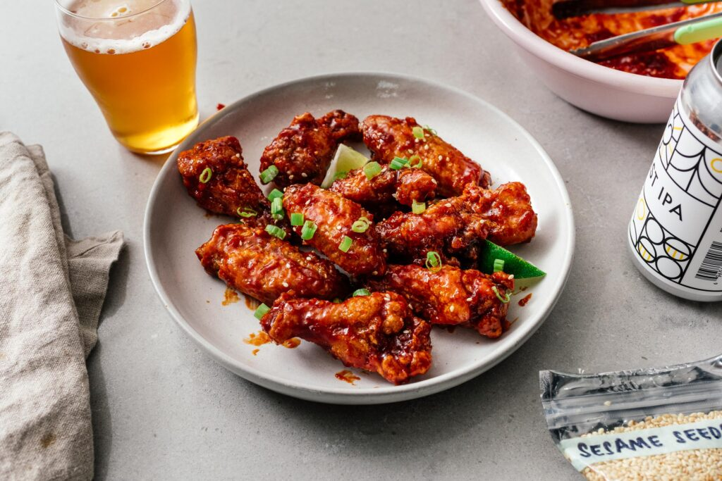 Air Fryer Korean Fried Chicken Recipe | www.iamafoodblog.com