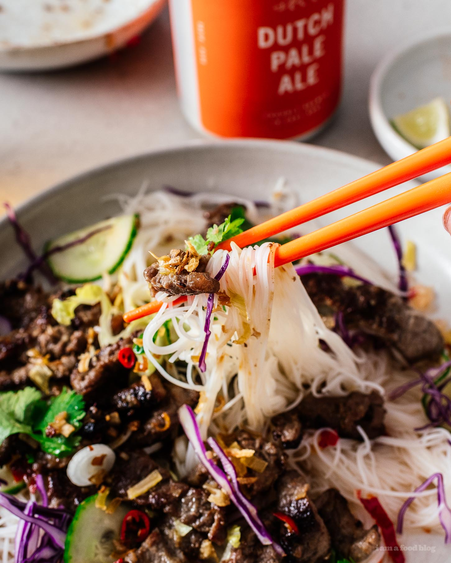 Bún Bò Xã Ớt - Vietnamese Lemongrass Beef Recipe | www.iamafoodblog.com