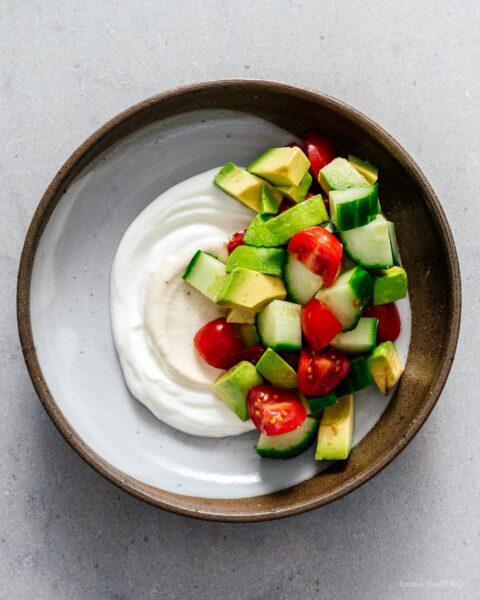 Jammy Eggs and Yogurt Breakfast Bowl Recipe   www.iamafoodblog.com