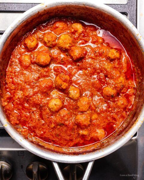 Homemade SpaghettiOs with Mini Meatballs Recipe | www.iamafoodblog.com