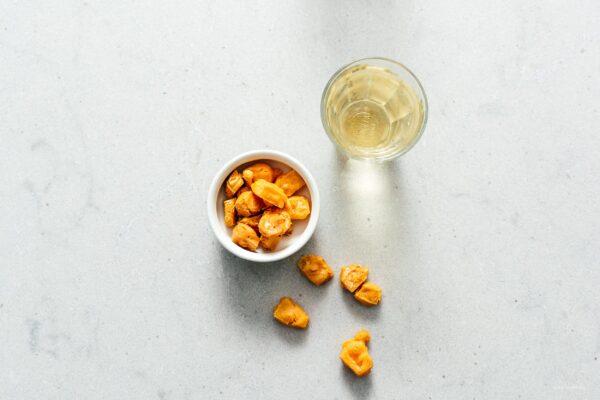 Keto Air Fryer Popcorn Cheese Puffs Recipe | www.iamafoodblog.com