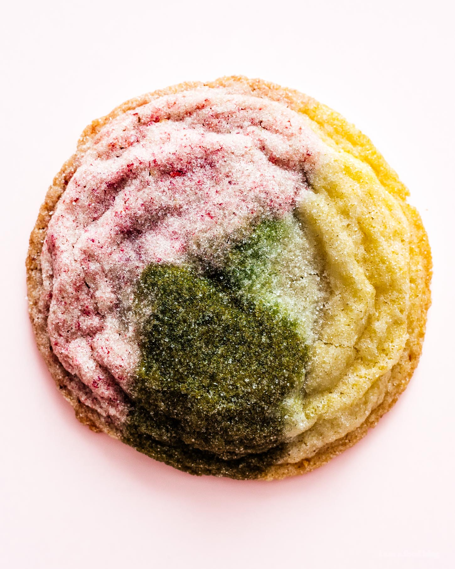 Matcha Strawberry and Vanilla Sugar Cookies | www.iamafoodblog.com