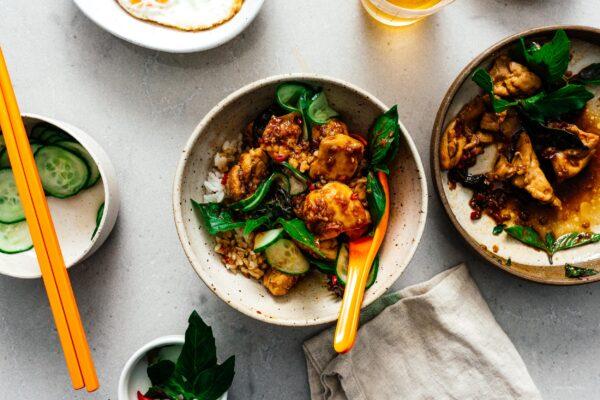 Thai Basil Chicken Recipe | www.iamafoodblog.com