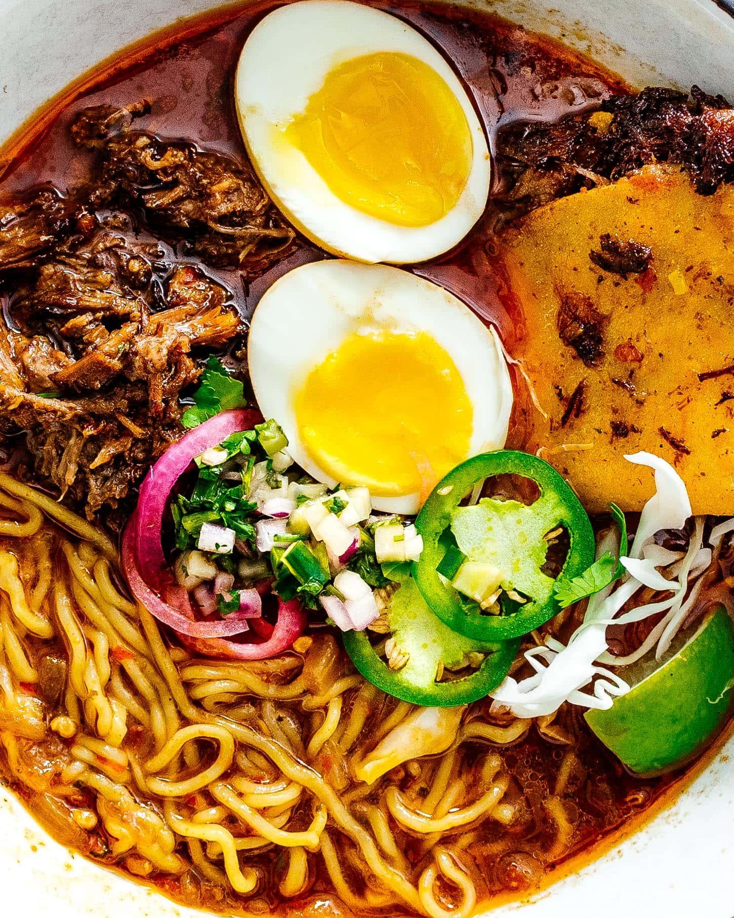 Birria Ramen Recipe | www.iamafoodblog.com