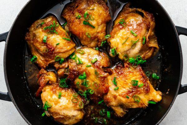 honey garlic chicken | www.iamafoodblog.com