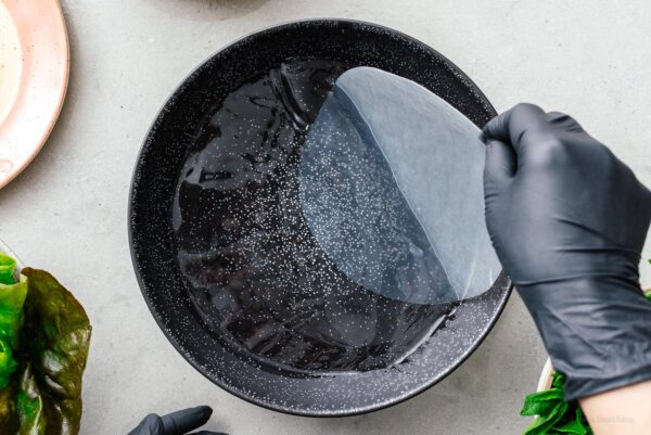 dipping rice paper | www.iamafoodblog.com